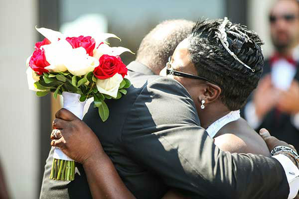 photos terminally ill man gets wedding wish abc13com