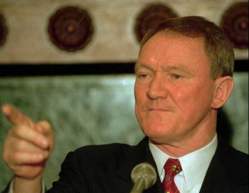 "<div class=""meta image-caption""><div class=""origin-logo origin-image none""><span>none</span></div><span class=""caption-text"">Newly-appointed Philadelphia Police Commissioner John Timoney gestures as he answers media questions Wednesday, Feb. 18, 1998, in Philadelphia. (ASSOCIATED PRESS)</span></div>"