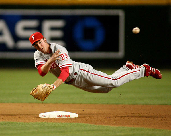 <div class='meta'><div class='origin-logo' data-origin='none'></div><span class='caption-text' data-credit='AP Photo/ Rick Scuteri'>Chase Utley makes the off-balance throw to first base during a National League baseball game on Tuesday, May 8, 2007, in Phoenix.</span></div>