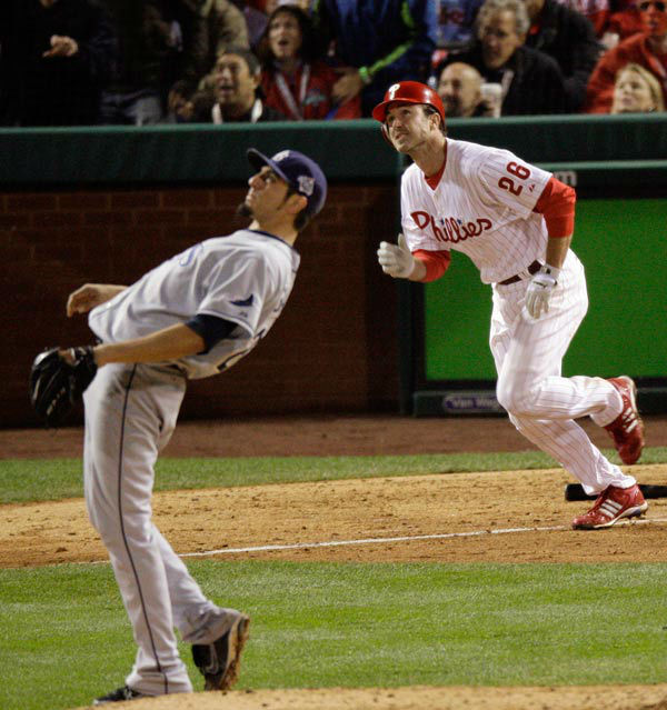 <div class='meta'><div class='origin-logo' data-origin='none'></div><span class='caption-text' data-credit='AP Photo/ Charles Krupa'>Chase Utley watches his solo home run in the sixth inning of Game 3 of the World Series in Philadelphia, Sunday, Oct. 26, 2008.</span></div>