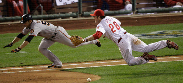 <div class='meta'><div class='origin-logo' data-origin='none'></div><span class='caption-text' data-credit='AP Photo/ Eric Gay'>Chase Utley during the ninth inning of Game 6 of National League Championship Series Saturday, Oct. 23, 2010, in Philadelphia.</span></div>