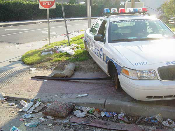 "<div class=""meta image-caption""><div class=""origin-logo origin-image none""><span>none</span></div><span class=""caption-text"">Outside of the convention center, an abandoned police car sits without tires. (WPVI Photo)</span></div>"