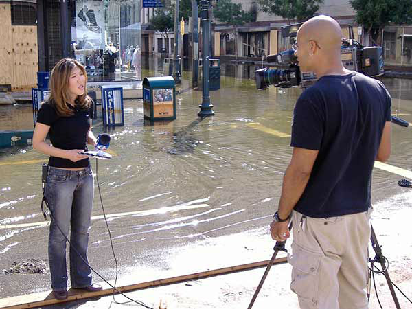 "<div class=""meta image-caption""><div class=""origin-logo origin-image none""><span>none</span></div><span class=""caption-text"">Nydia Han and Nick Morgan broadcast live from a flooded Canal Street in downtown New Orleans. (WPVI Photo)</span></div>"