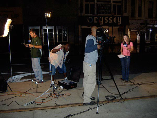"<div class=""meta image-caption""><div class=""origin-logo origin-image none""><span>none</span></div><span class=""caption-text"">The only lights in the city at night were from the television crews reporting from Canal Street. (WPVI Photo)</span></div>"