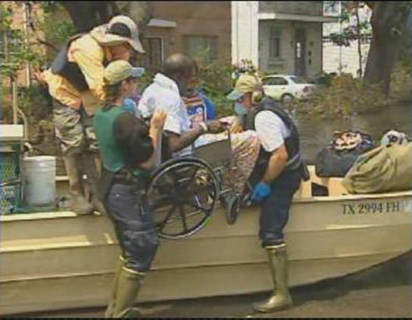 "<div class=""meta image-caption""><div class=""origin-logo origin-image none""><span>none</span></div><span class=""caption-text"">Days after the storm, rescuers with a boat reach a man in a wheelchair and take him to safety. (WPVI Photo)</span></div>"
