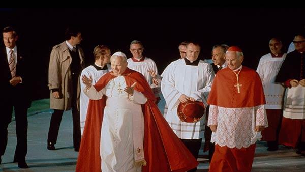 <div class='meta'><div class='origin-logo' data-origin='AP'></div><span class='caption-text' data-credit=''>Pope John Paul II greets the crowds before performing mass in Philadelphia, Pa., Oct. 3, 1979</span></div>