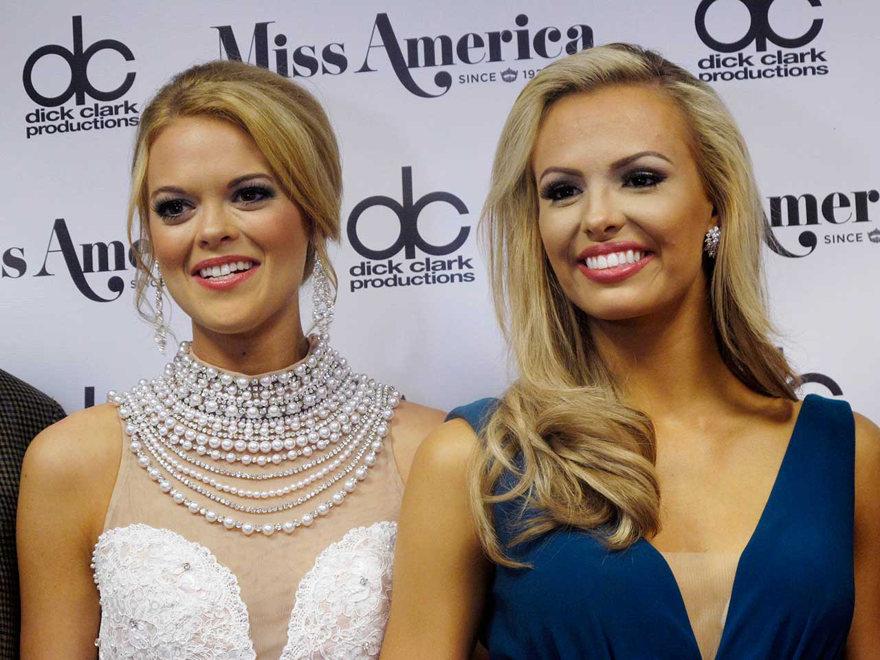 "<div class=""meta image-caption""><div class=""origin-logo origin-image ap""><span>AP</span></div><span class=""caption-text"">Miss Louisiana April Nelson, left, and Miss Florida Mary Katherine Fechte, right, on Thurs. Sept. 10, 2015 after winning awards in the Miss America preliminary competition. (AP Photo/Wayne Parry)</span></div>"