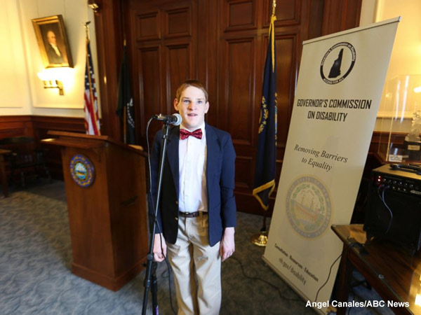 """<div class=""""meta image-caption""""><div class=""""origin-logo origin-image none""""><span>none</span></div><span class=""""caption-text"""">Christopher Duffley performing the Star-Spangled Banner at the New Hampshire Governor's Commission on Disability. Concord, NH. July 27, 2016.</span></div>"""