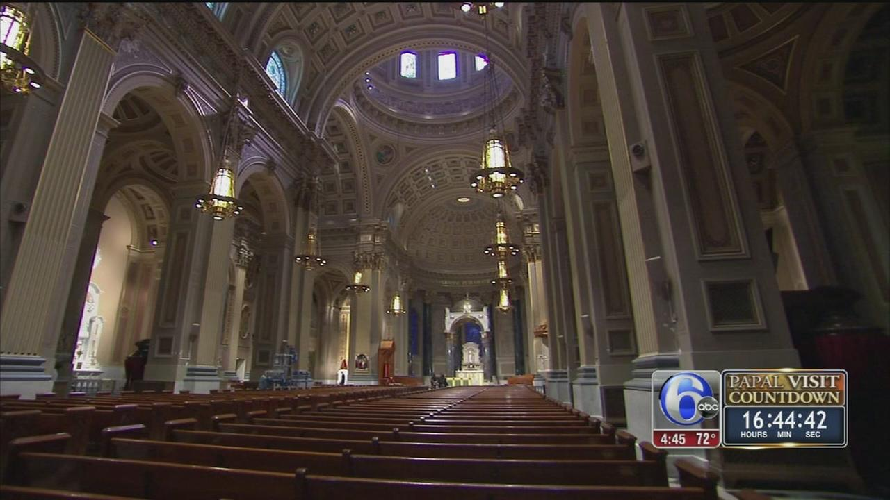 VIDEO: Basilica gets high-tech makeover for papal Mass