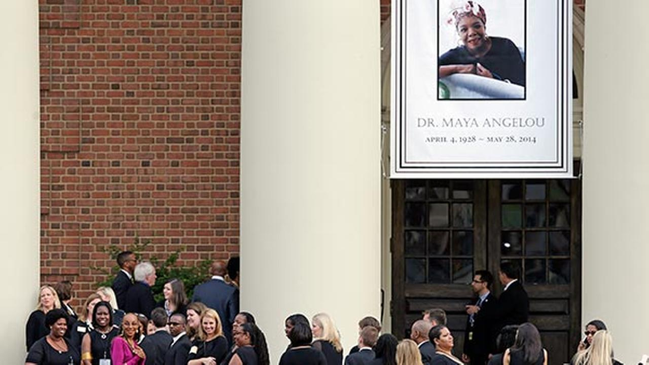 Poet Maya Angelou remembered at memorial service