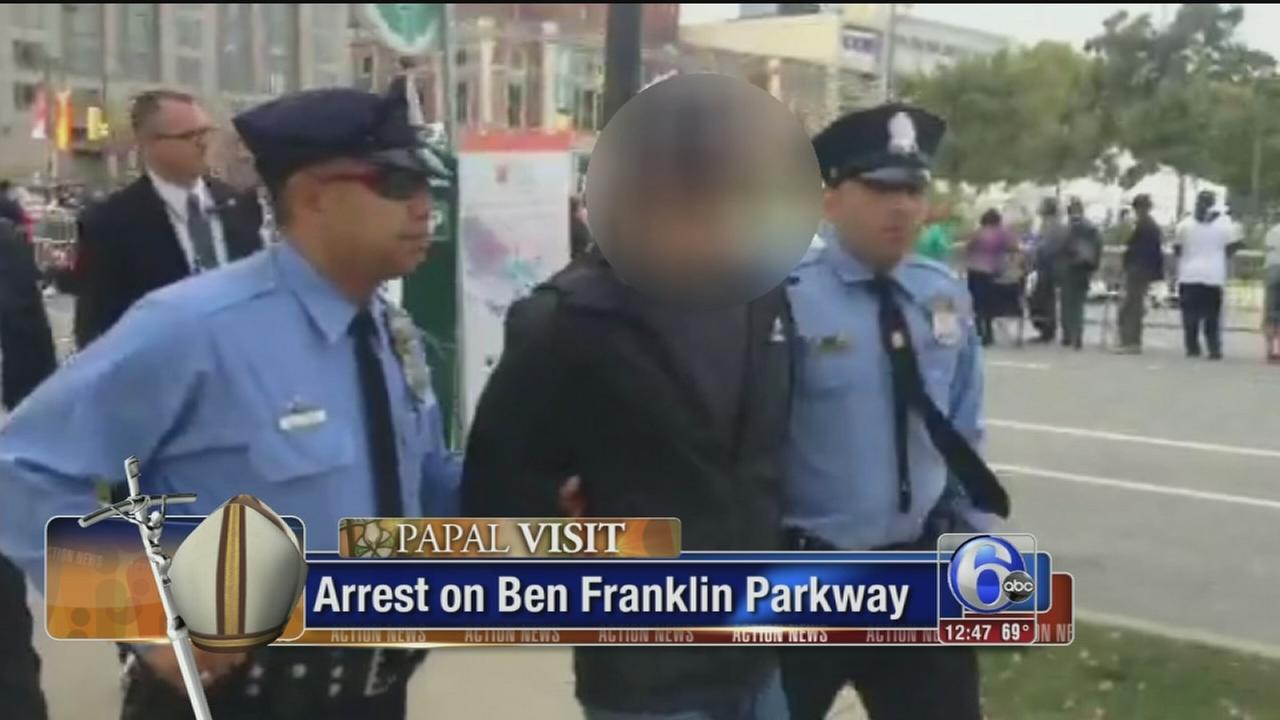 Man taken into custody before pope?s Mass in Philadelphia