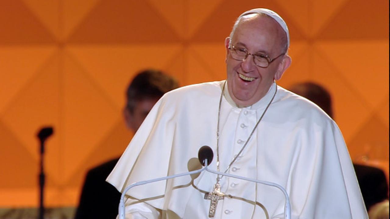 Pope Francis speaks at the Festival of Families in Philadelphia on September 26, 2015.