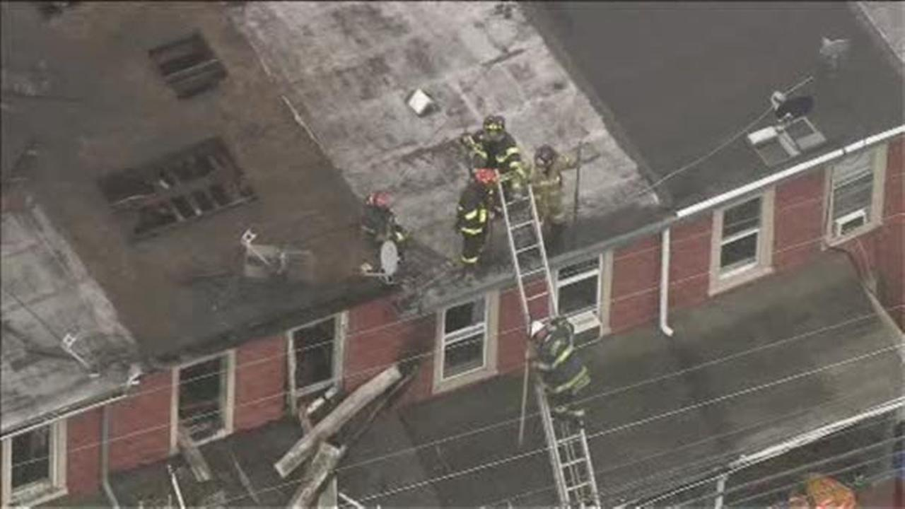 homes evacuated after blaze in norristown 6abc com Screened in Porches Wrap around Porch