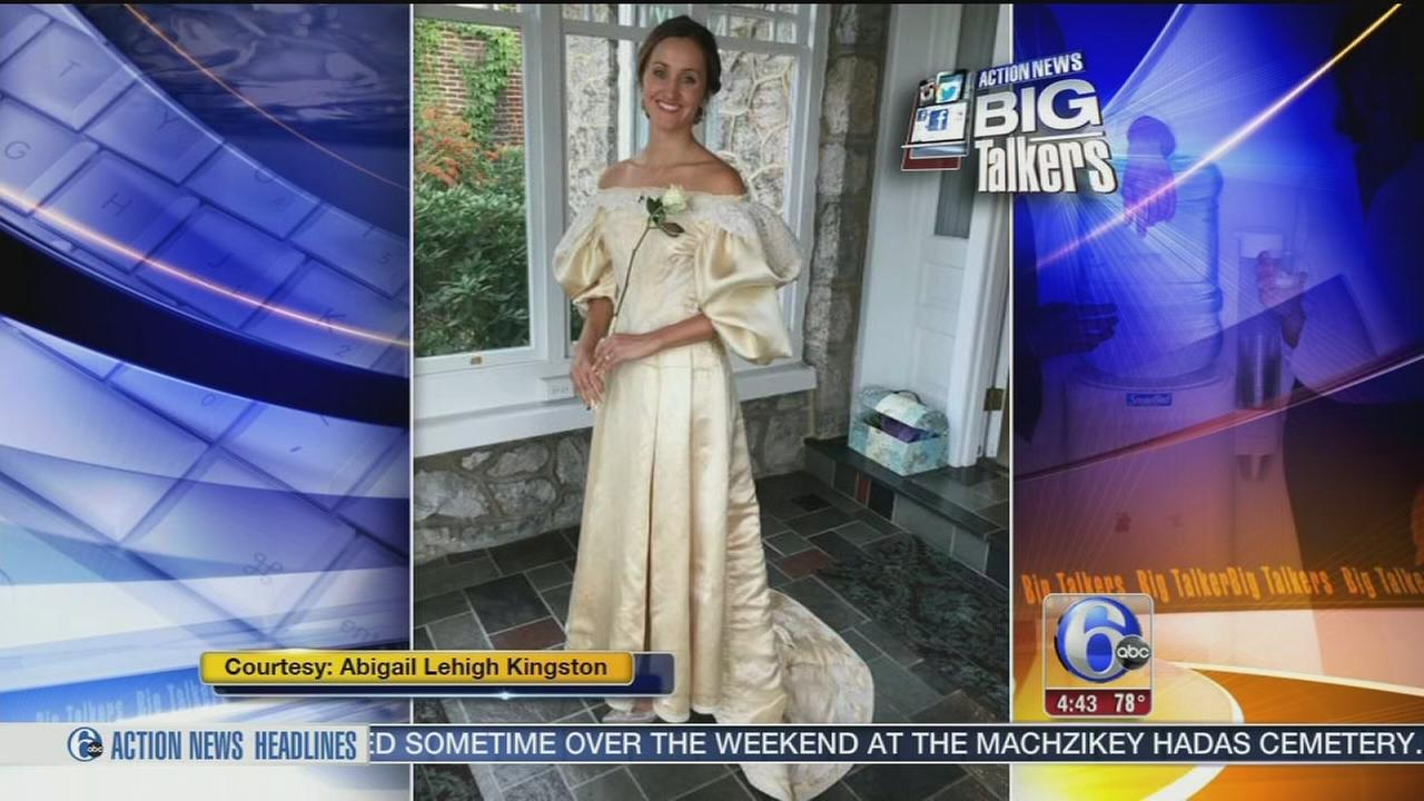 VIDEO: Pennsylvania woman will wear 120-year-old heirloom wedding down