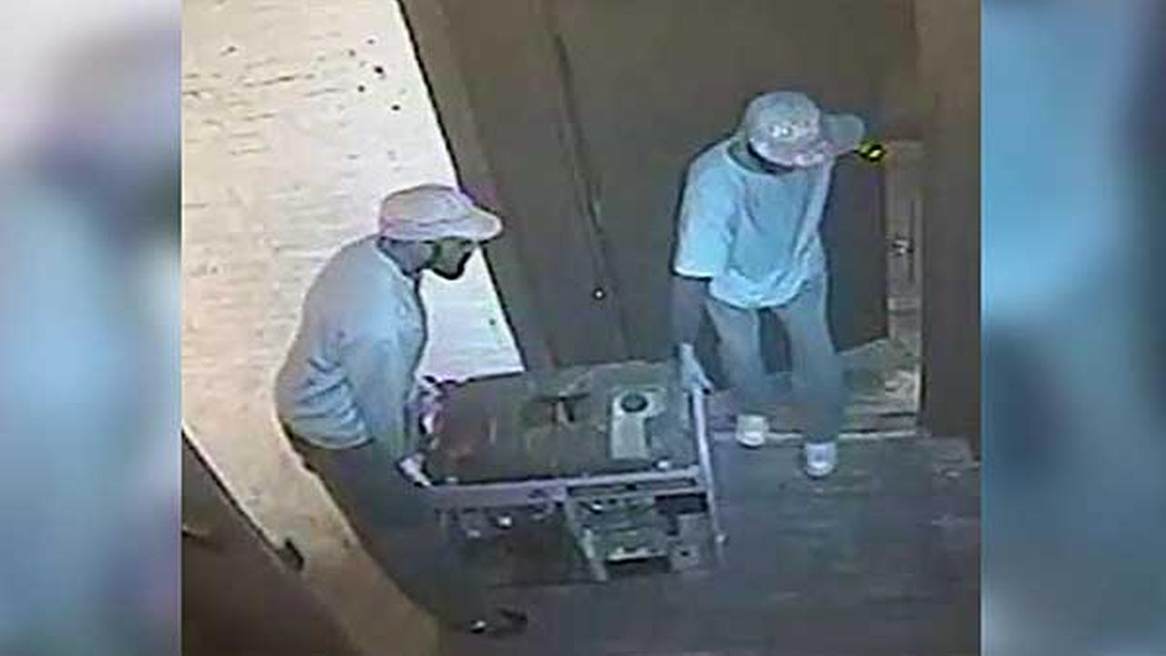 Police are searching for two suspects who stole almost $2,500 worth of electronics and equipment from a business in North Philadelphia.