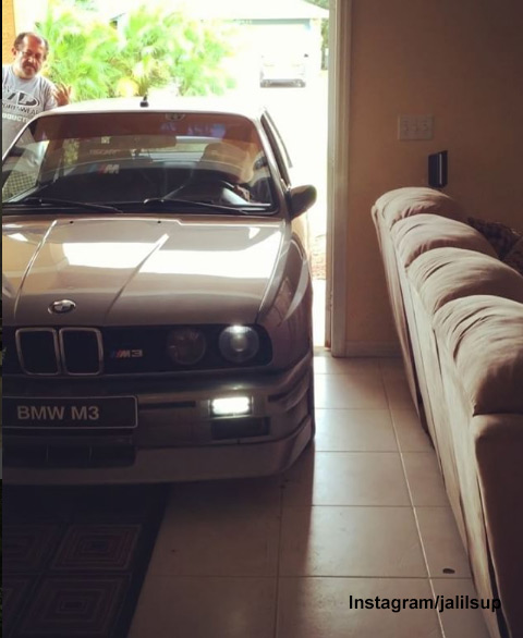 "<div class=""meta image-caption""><div class=""origin-logo origin-image none""><span>none</span></div><span class=""caption-text"">When Randy Jalil saw the forecast that Hurricane Matthew was headed his way, he looked at his 1988 BMW E30 M3 and knew he had a job to do. (Instagram/jalilsup)</span></div>"