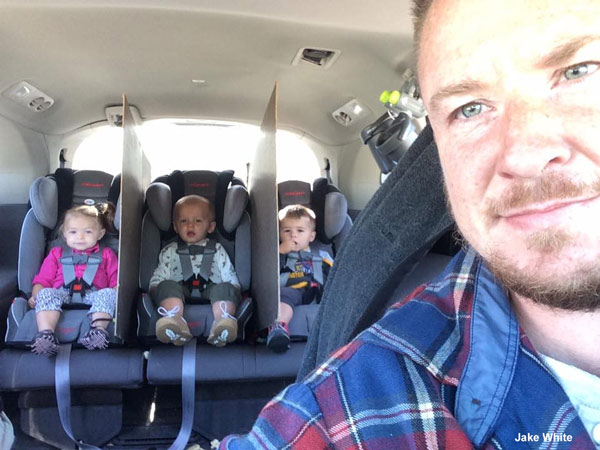Dad creates ingenious way to keep his triplets from for Abc motor credit gilchrist rd