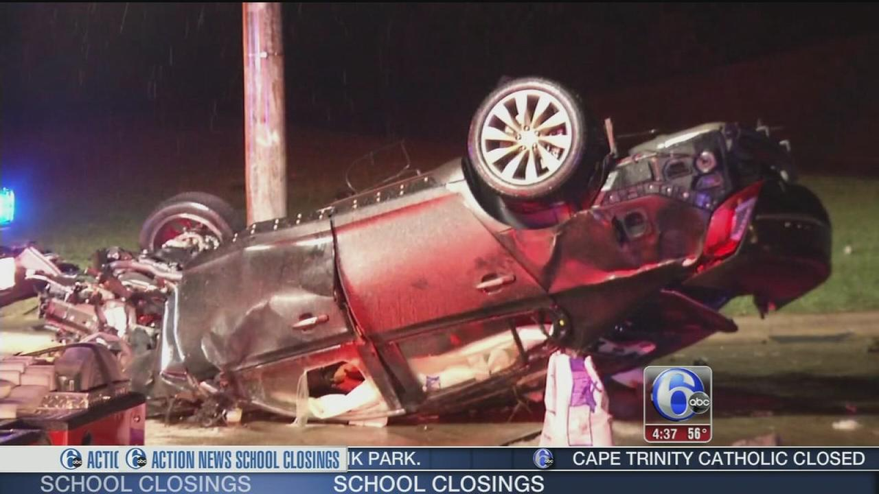 VIDEO: Police: Driver speeding killed in crash in Delaware