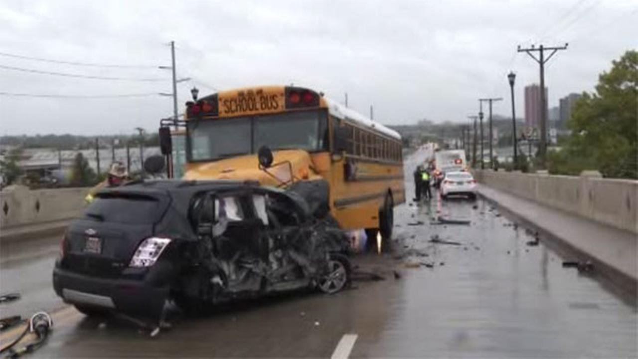 School bus, DART bus, SUV collide in Del.