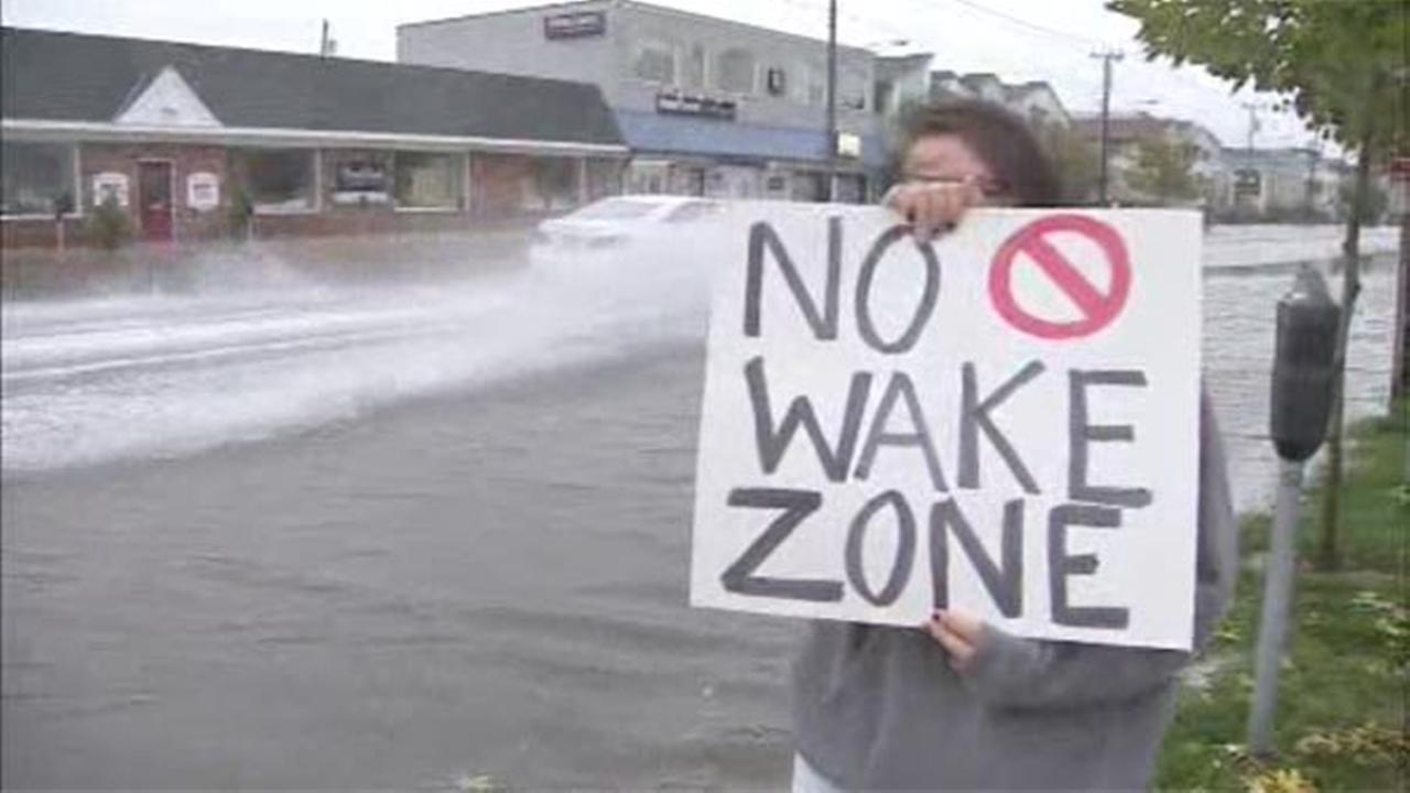 On West Avenue, no wake zone warnings now apply.