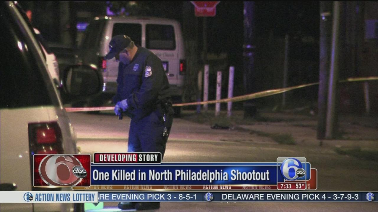 VIDEO: 1 dead, 1 critical in North Philadelphia shooting
