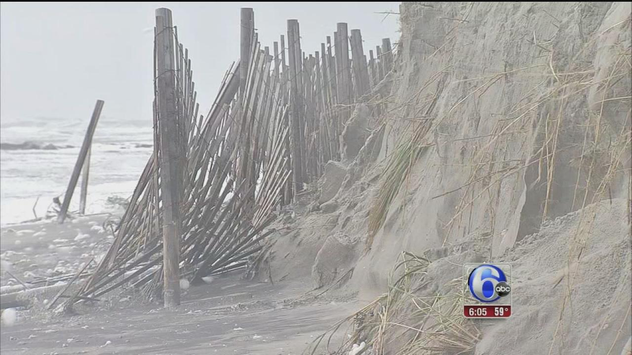 VIDEO: Beach erosion at Jersey shore