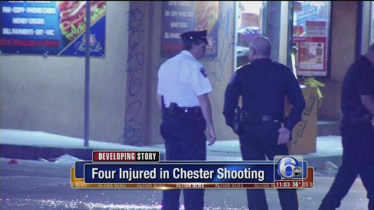 VIDEO: 4 injured Chester shooting