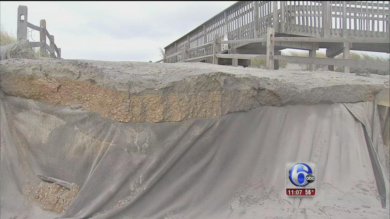 VIDEO: Beach erosion New Jersey