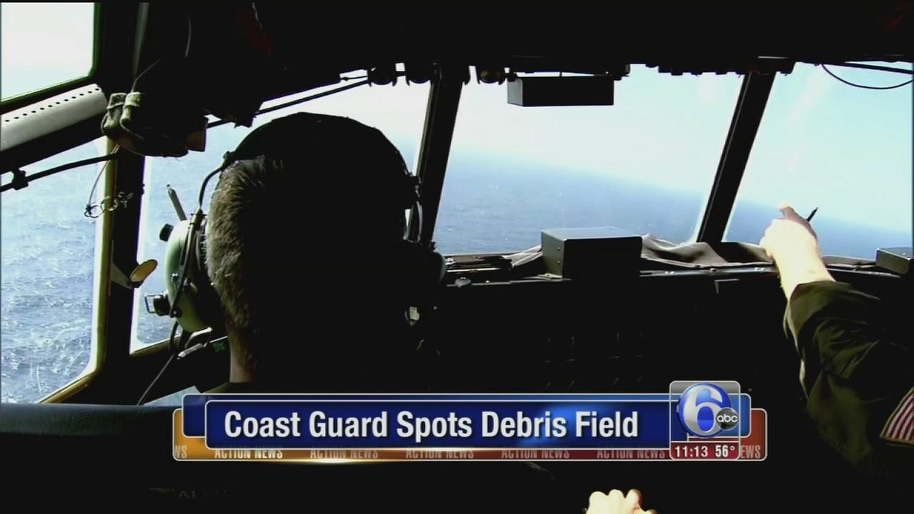 VIDEO: Coast Guard spots debris
