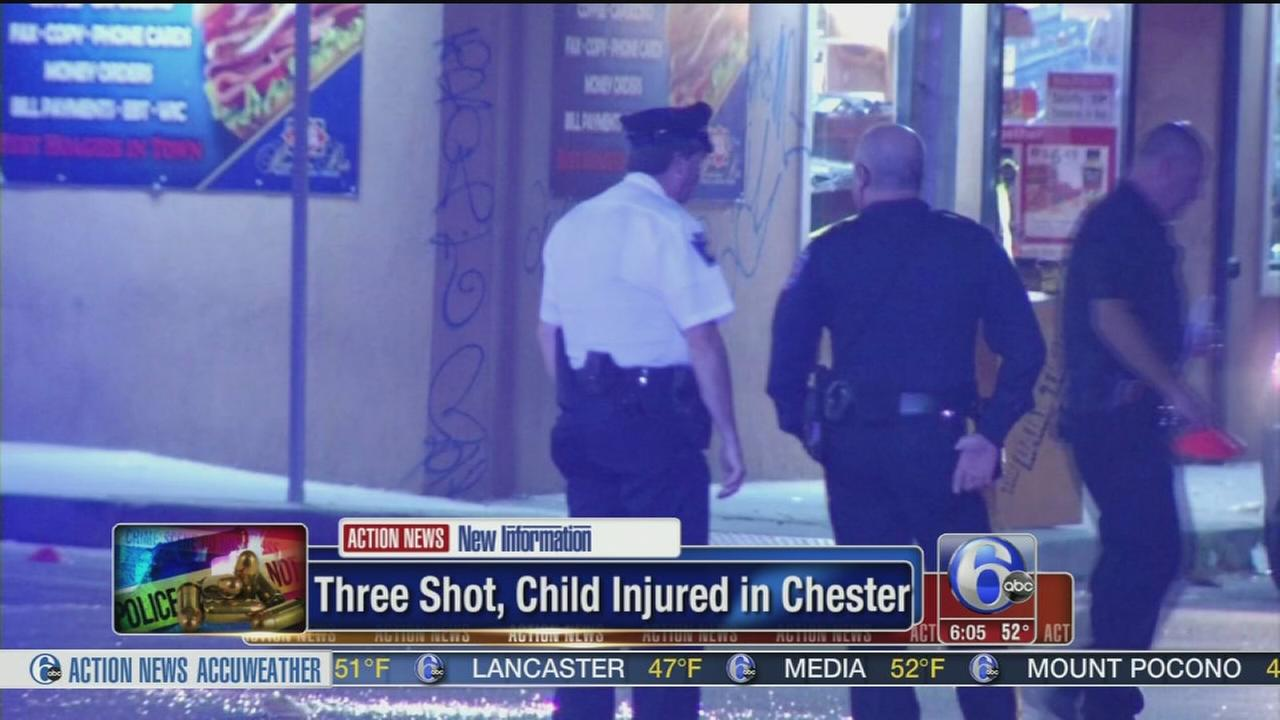 VIDEO: 3 shot, child hurt in Chester