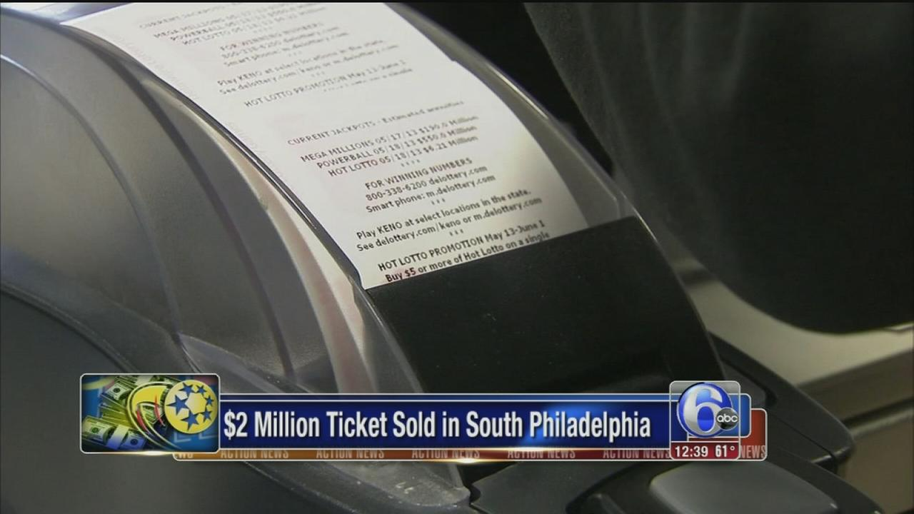 VIDEO: Winning Mega Millions lotto ticket sold in South Philadelphia