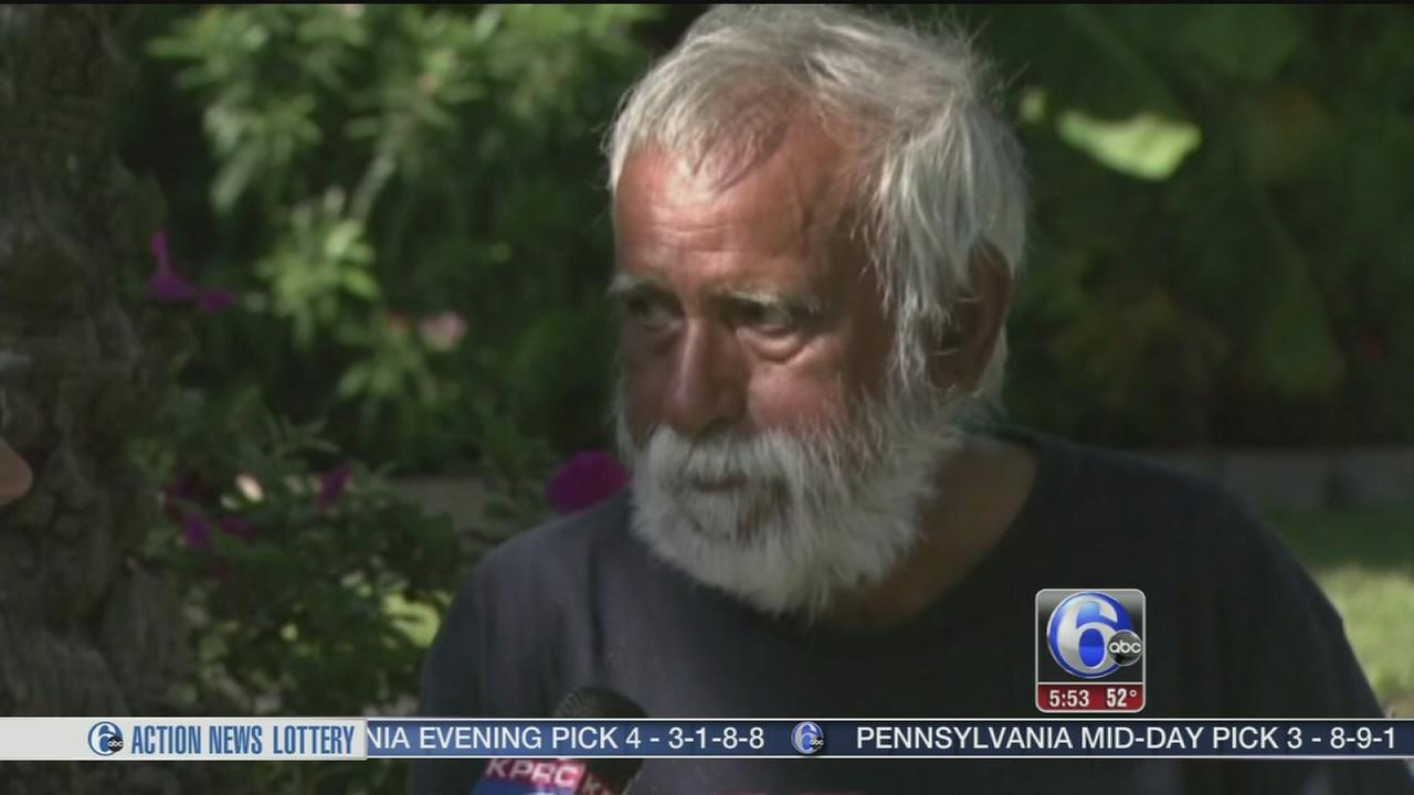 VIDEO: Husband camps on lawn during separation
