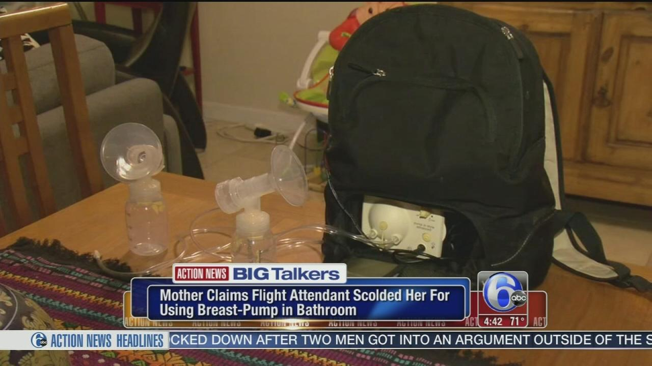 VIDEO: Mom says flight attendant scolded her for using breast pump in bathroom