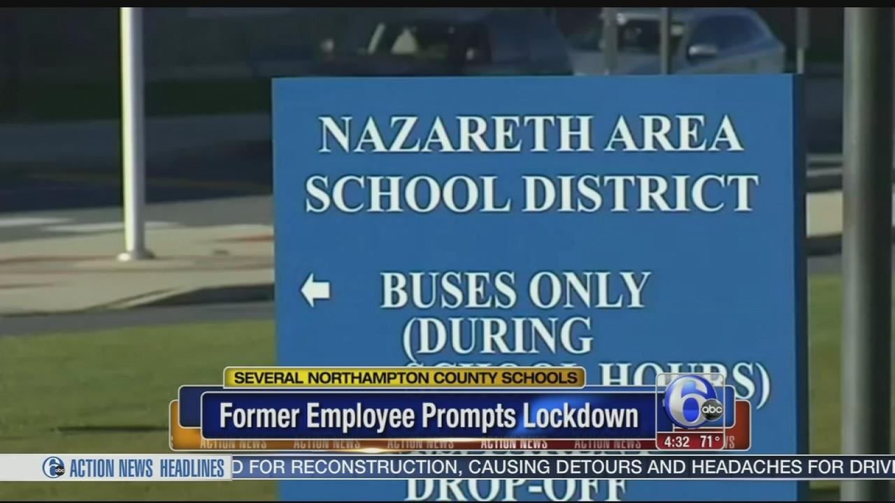 Former employee prompts lockdown at several Pa. schools