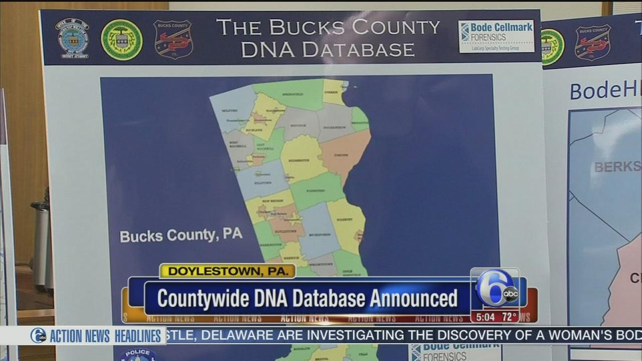 VIDEO: DNA database program announced in Bucks County