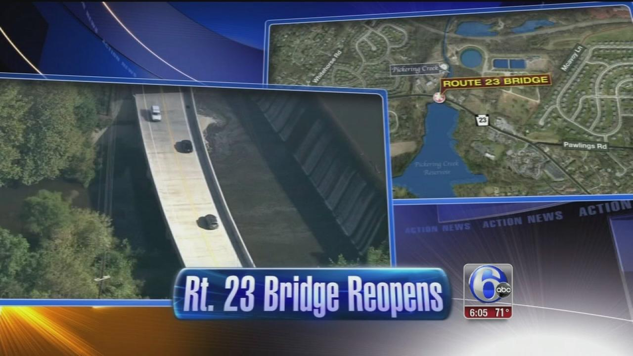 VIDEO: Route 23 Bridge reopens