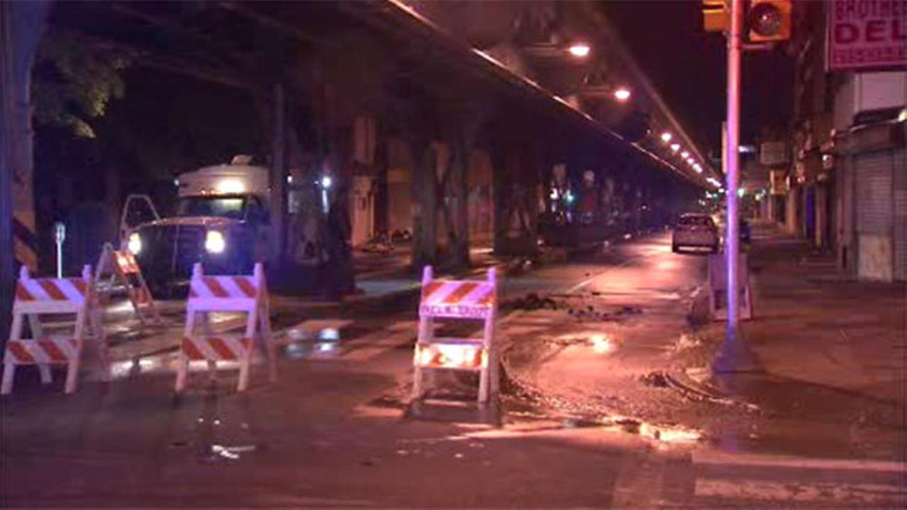 Water main break closes street in Frankford