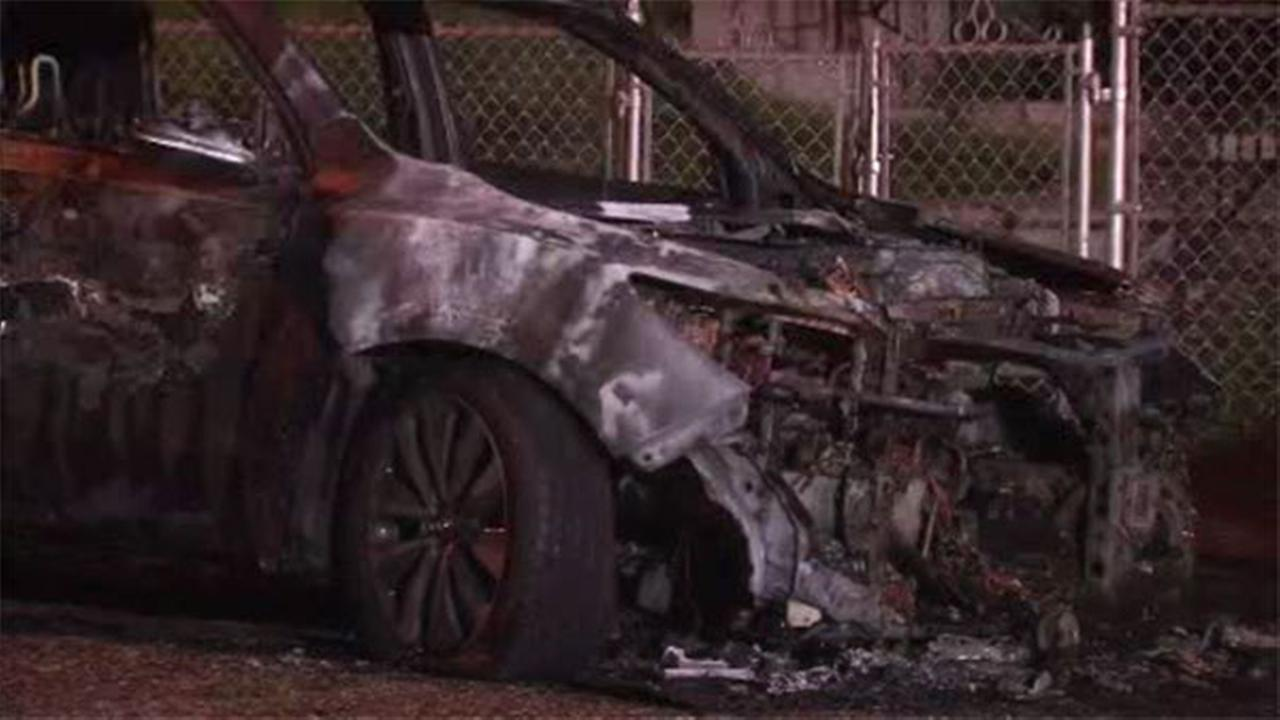 Car bursts into flames in Delco