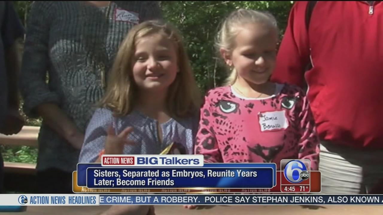 VIDEO: Sisters separated as embryos reunite