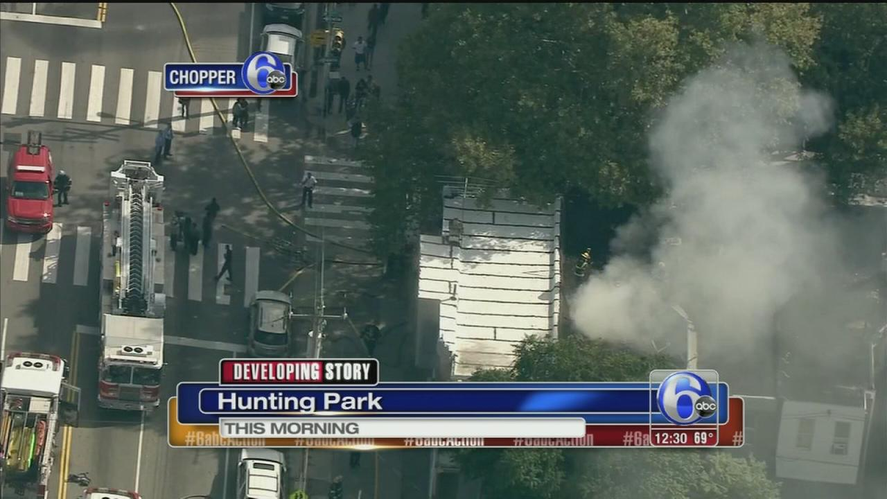 VIDEO: Porch fires in Hunting Park
