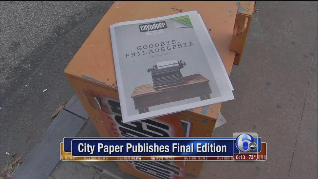 VIDEO: City Paper publishes final edition