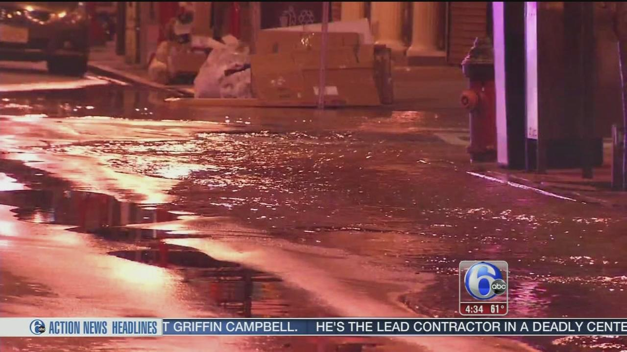 VIDEO: Water main break closes portion of South Street