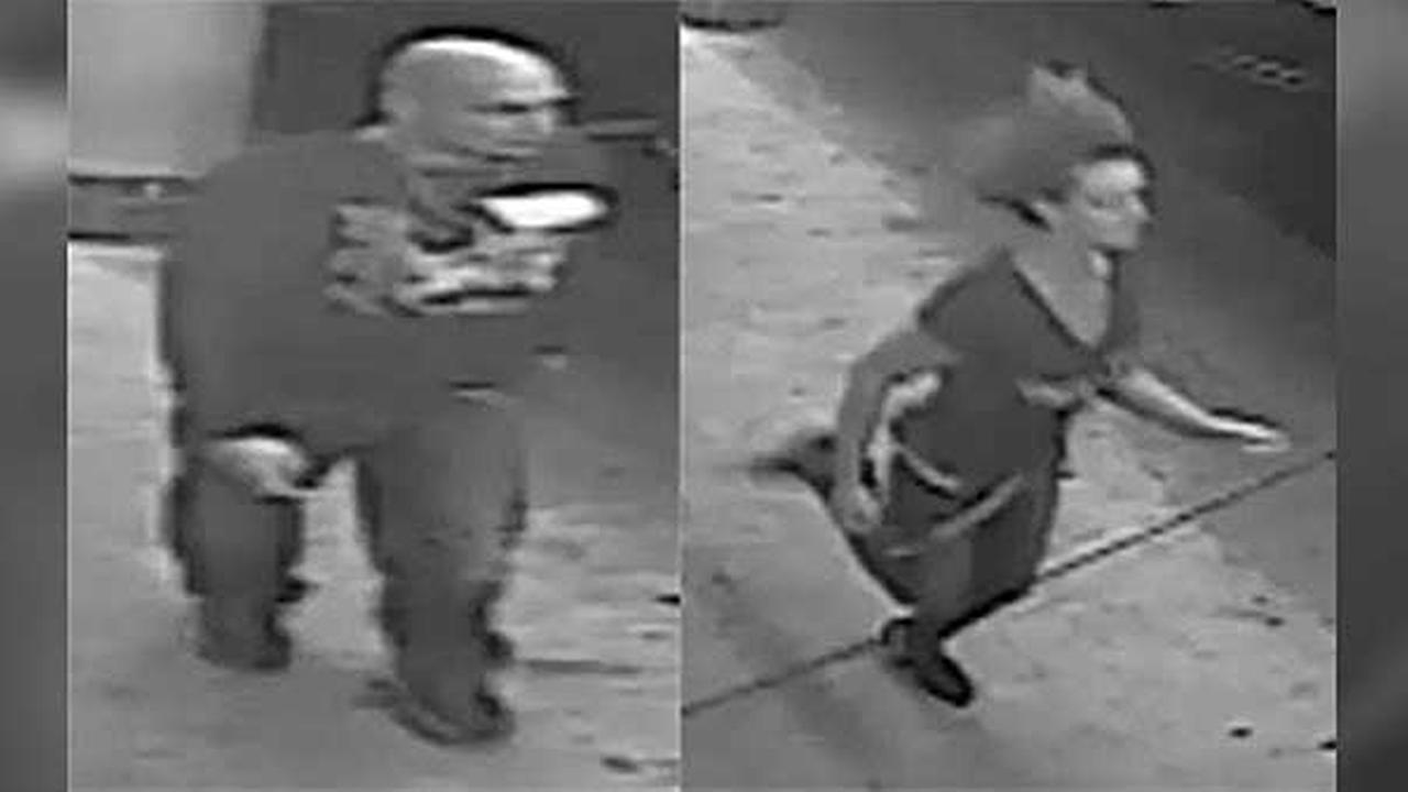 Police are searching for a pair of suspects who violently attacked a man outside of a restaurant in Northeast Philadelphia.