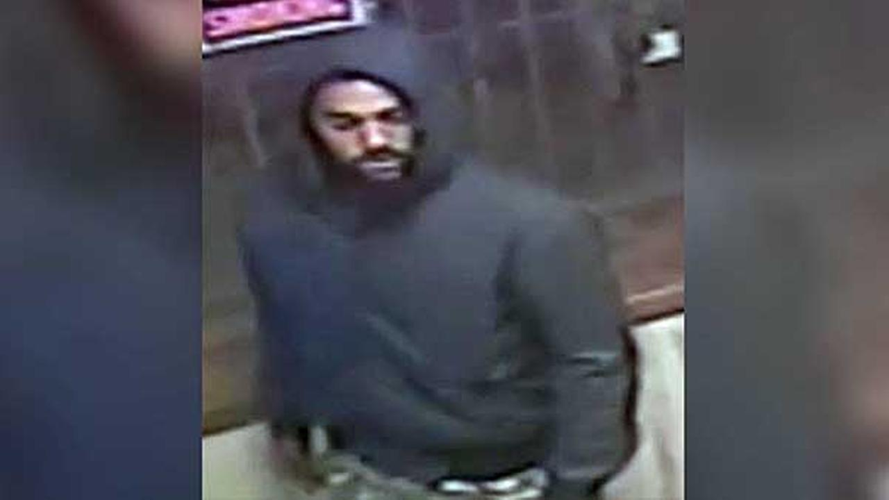 Police are looking for a suspect who allegedly attacked and robbed a man at gunpoint in North Philadelphia last month.