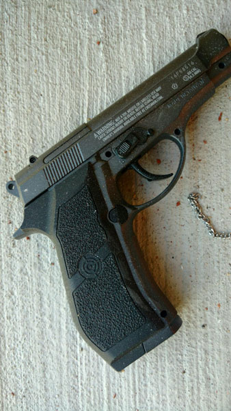 "<div class=""meta image-caption""><div class=""origin-logo origin-image none""><span>none</span></div><span class=""caption-text"">Investigators have found two replica handguns next to the suspects. </span></div>"