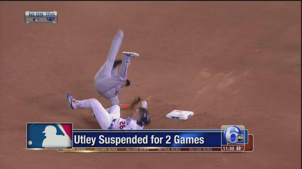 VIDEO: Utley suspended for 2 games