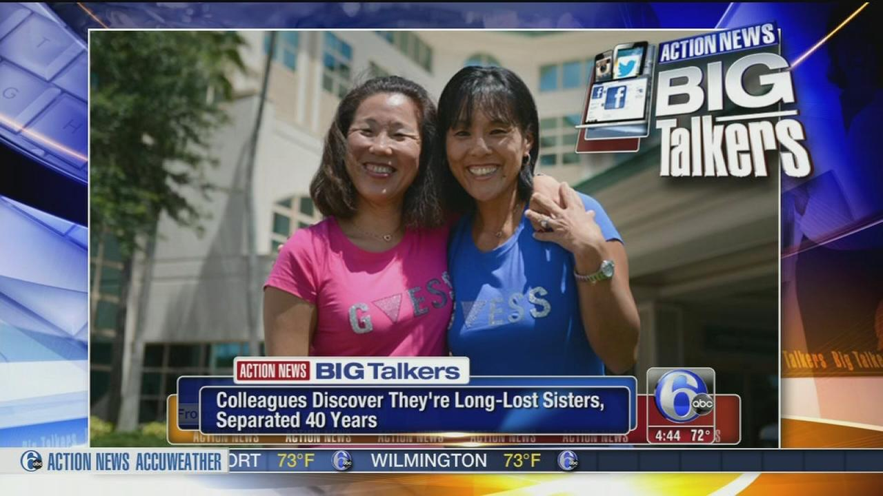 VIDEO: Colleagues discover theyre long-lost sisters