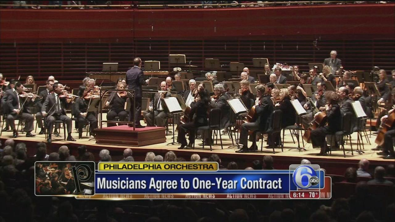 VIDEO: Phila. Orchestra agree to 1-year contract
