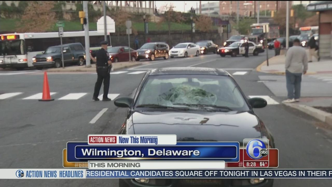 VIDEO: Pedestrian struck in Wilmington
