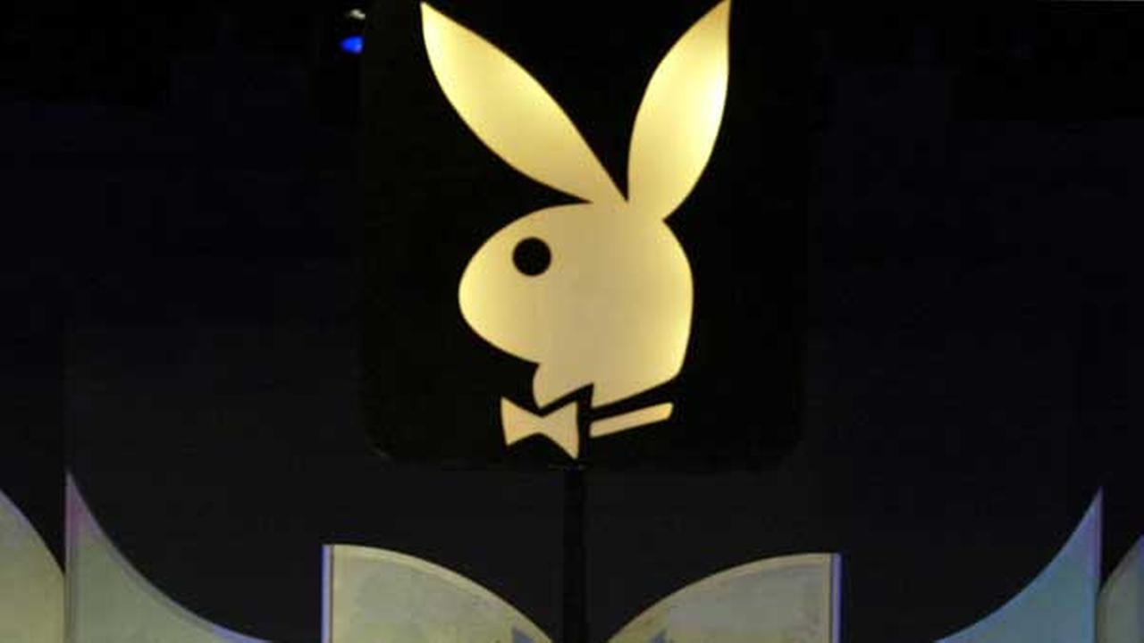 FILE - This file photo shows the Playboy bunny logo in Los Angeles.